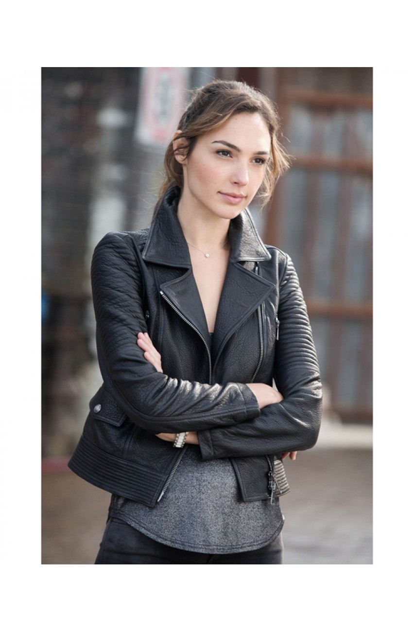 leather jacket of gal gadot from fast and furious 6